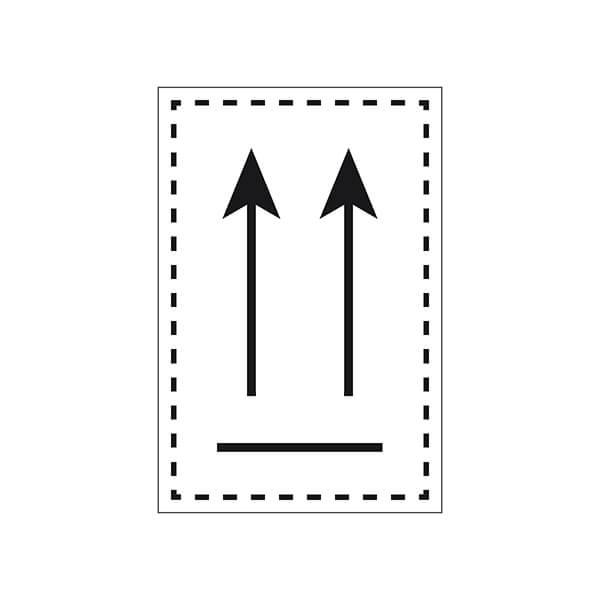 Etiqueta ADR de mercancías peligrosas para orientaciónde bultos