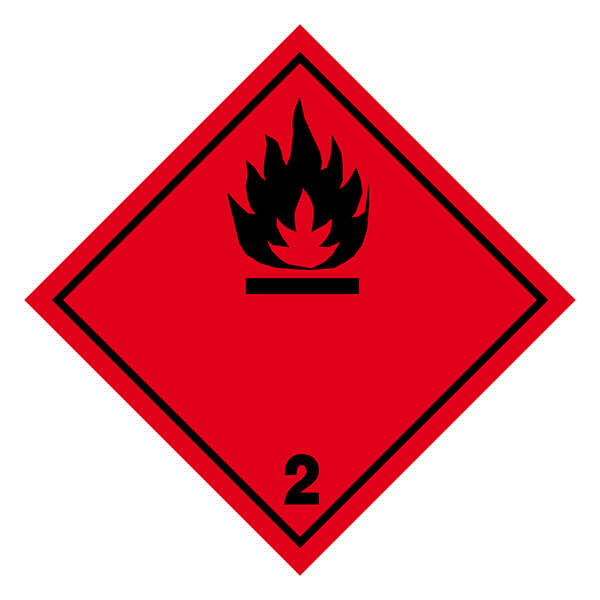 Etiqueta ADR de mercancías peligrosas clase 2_2.1