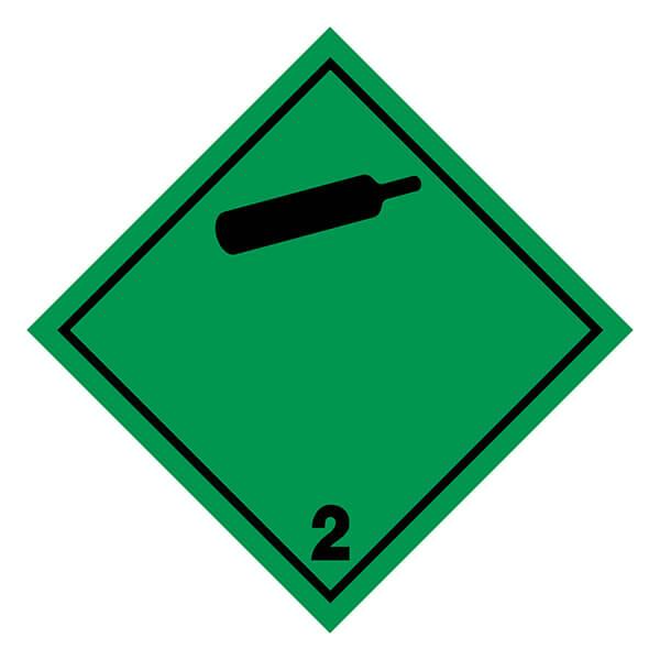 Etiqueta ADR de mercancías peligrosas clase 2_2.2