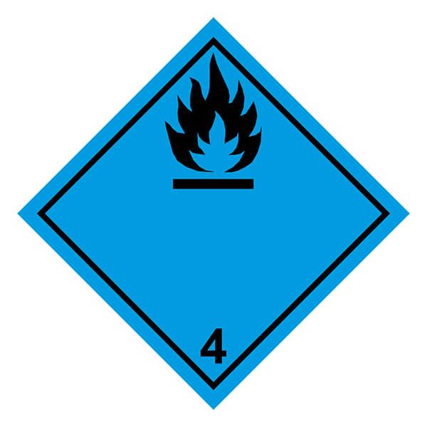 Etiqueta ADR de mercancías peligrosas clase 4_4.3