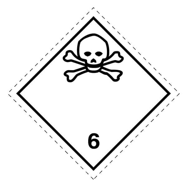 Etiqueta ADR de mercancías peligrosas clase 6_6.1