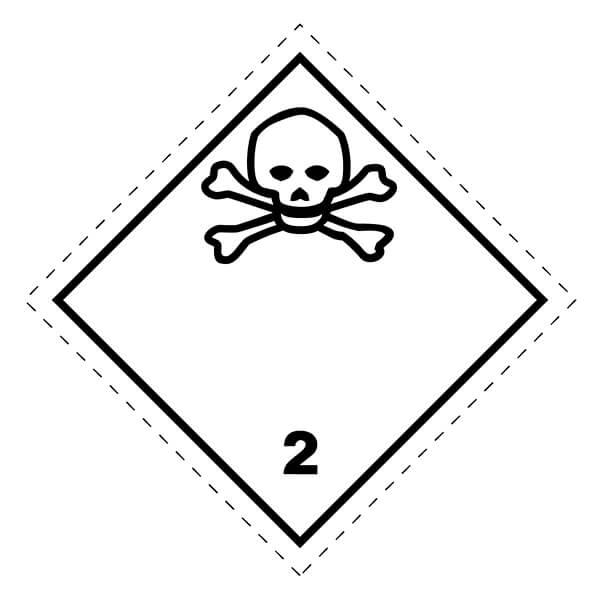 Etiqueta ADR de mercancías peligrosas clase 2_2.3