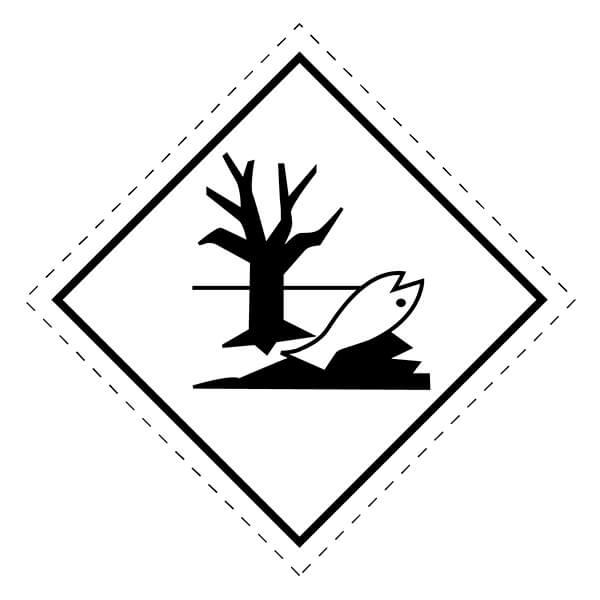 Etiqueta ADR de mercancías peligrosas Medioambiente